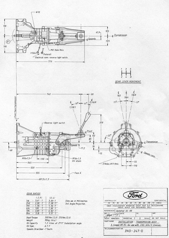 diagram  gearbox diagrams  dimensions