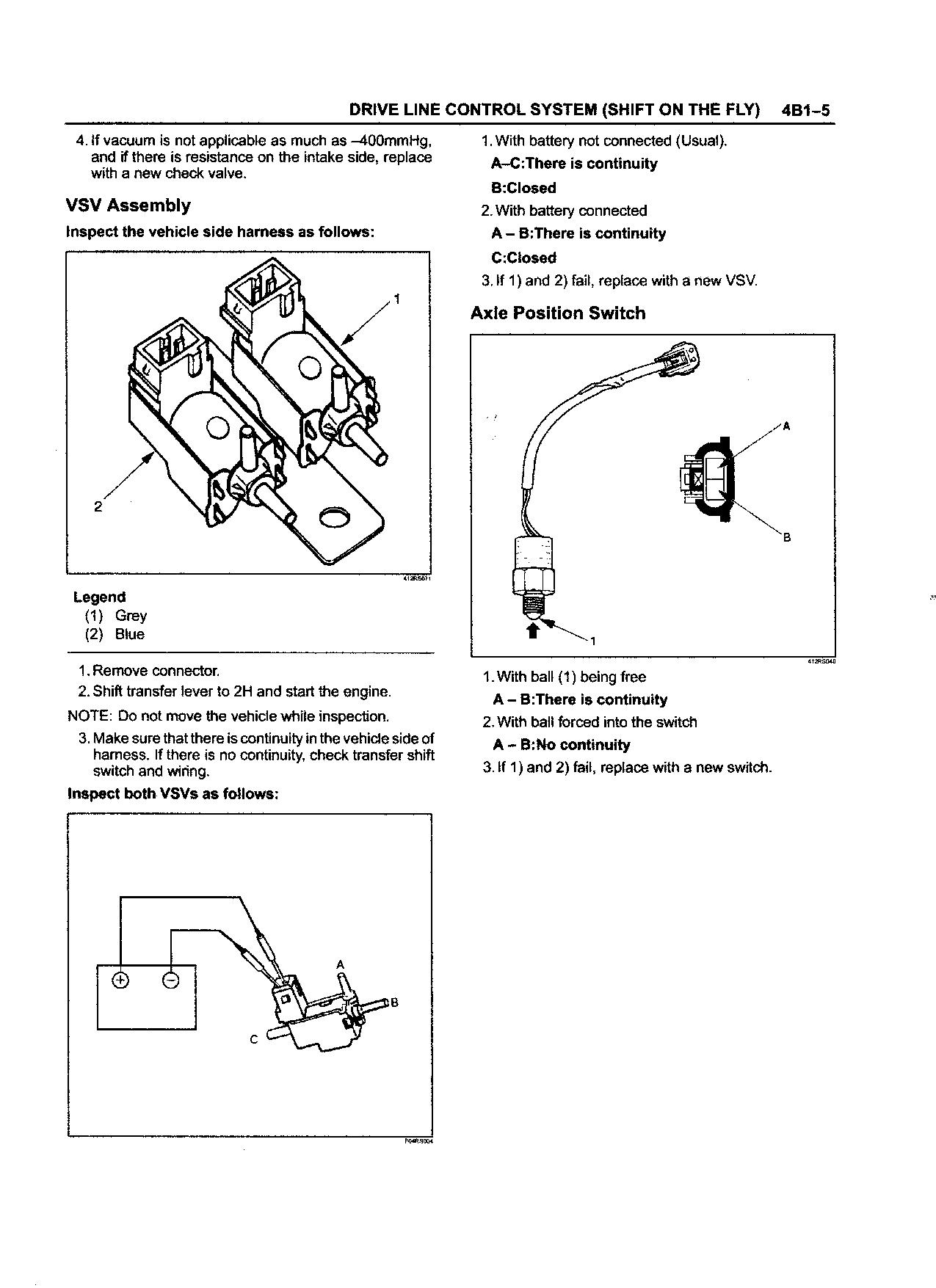 Info Request: Anyone know about 1998 Isuzu Trooper 4wd Systems ?
