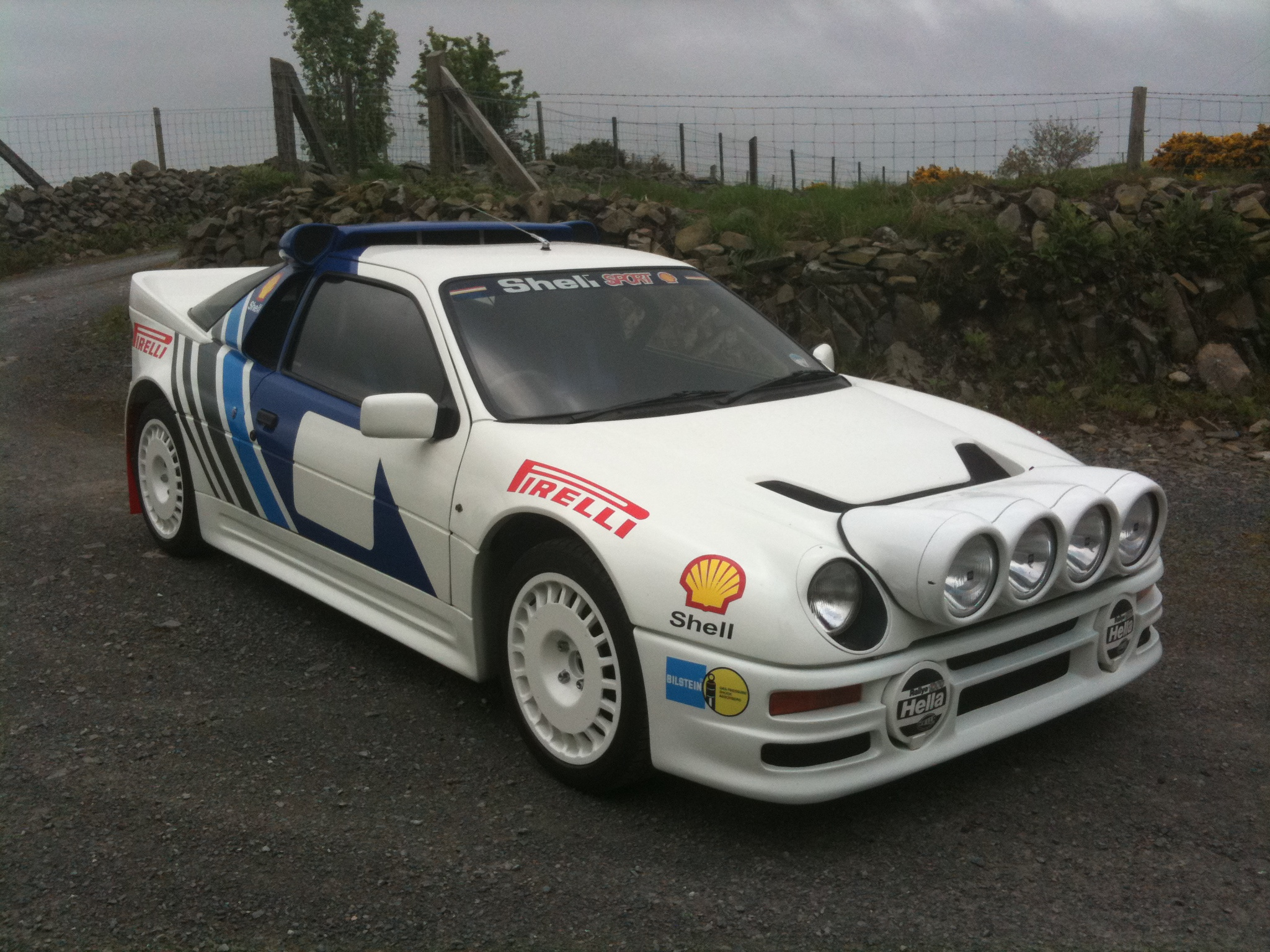 My Ford RS200 replica , with rally livery