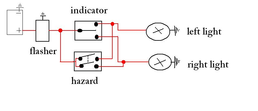 Diagram  Indicator  Hazard Light Circuit