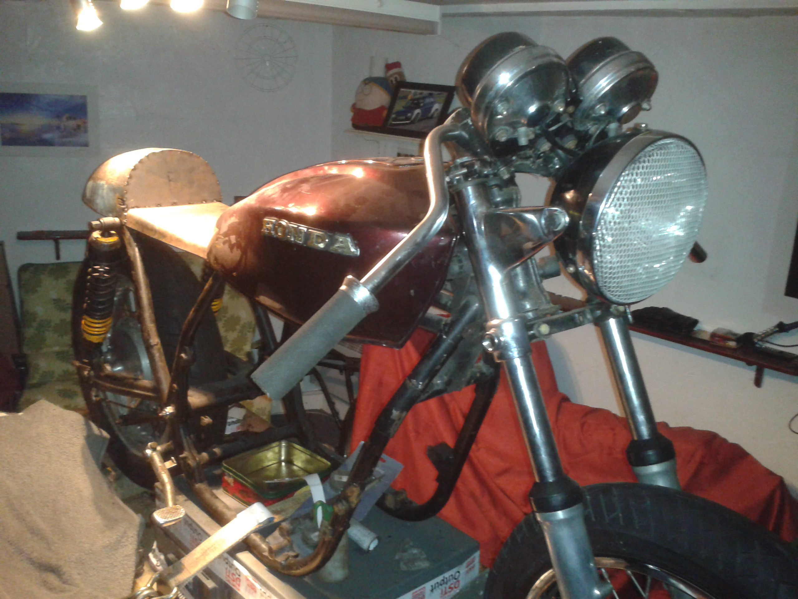 how to build a cb750 cafe racer