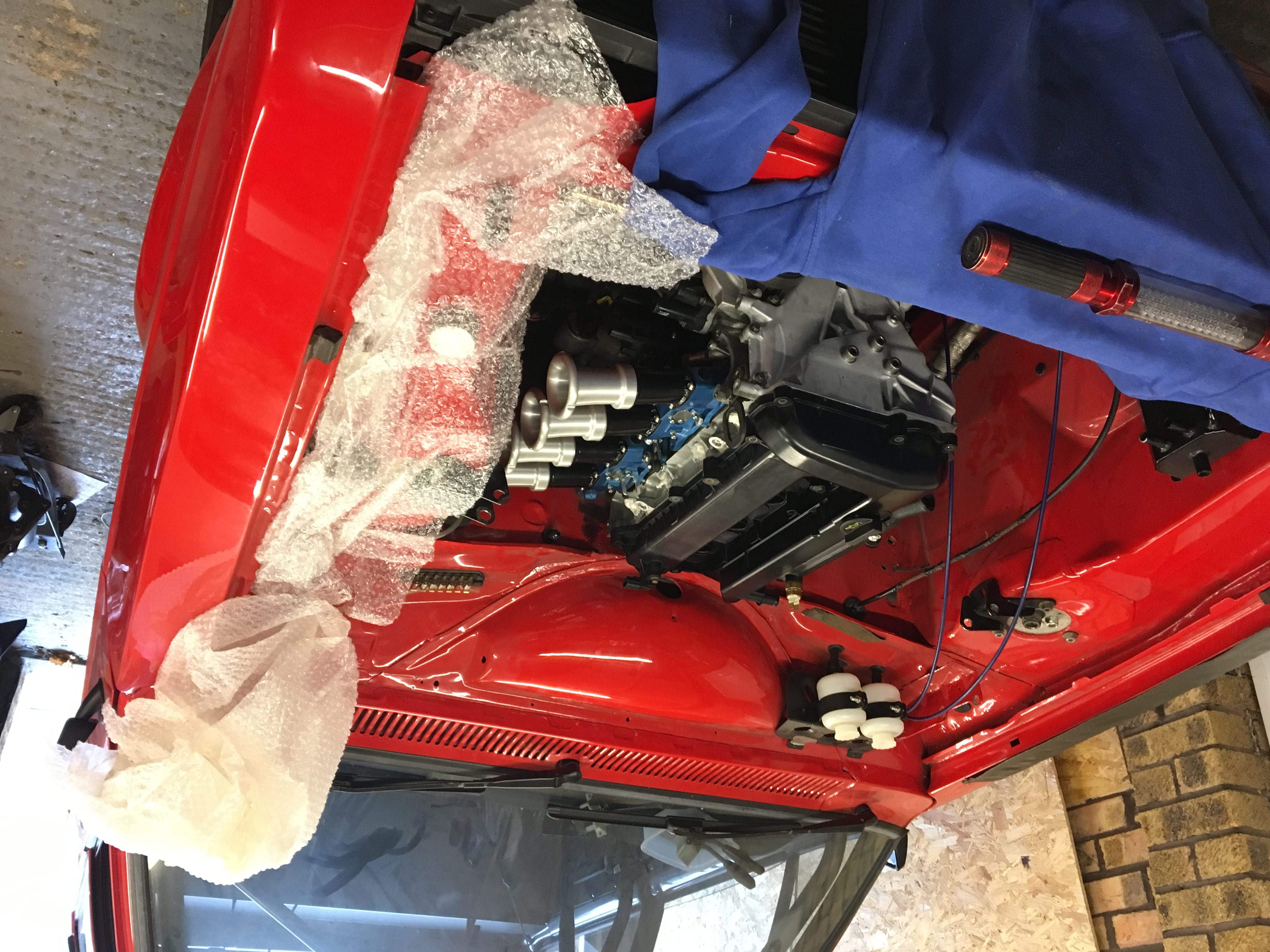 Escort Mk2 Trackday Fun Car Mini R53 Coupe Cooper S Ece Engine Electrical System Various Wiring So The Was Mounted In